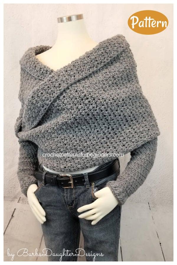 Sweater Scarf Crochet Pattern
