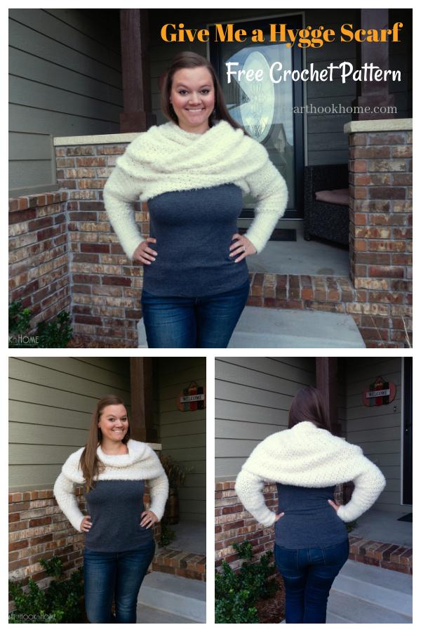 Sweater Scarf Free Crochet Pattern