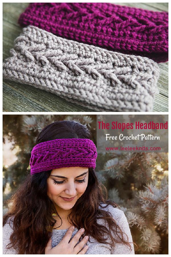 The Slopes Headband Free Crochet Pattern