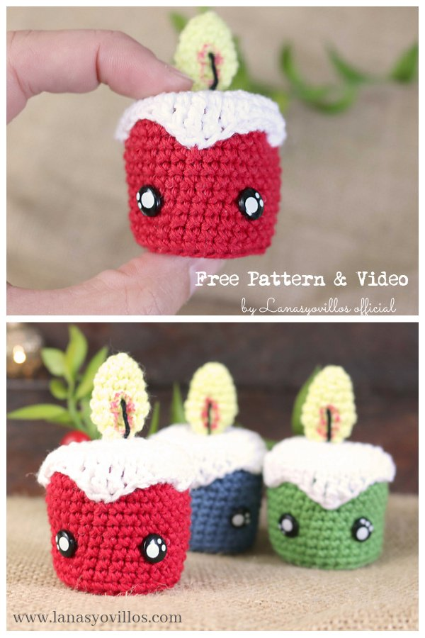 Tiny Candles Free Crochet Pattern and Video Tutorial