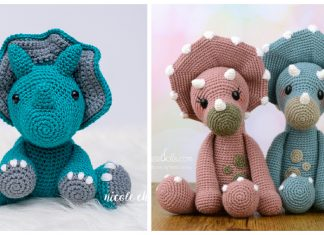 Triceratop Dinosaur Amigurumi Crochet Patterns