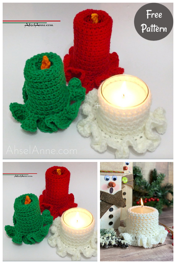 Vintage Candle Free Crochet Pattern