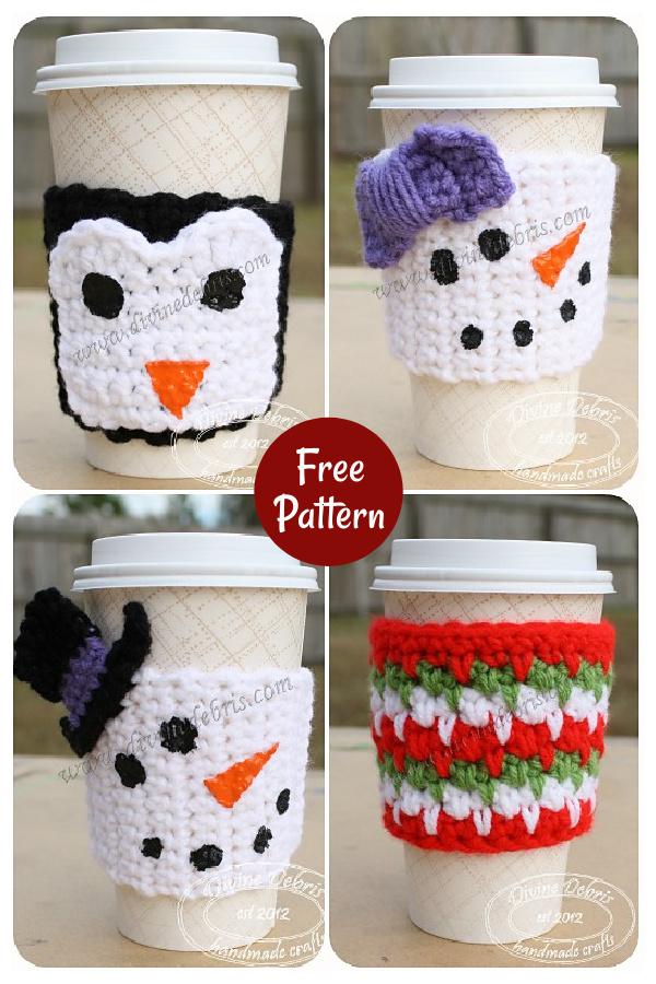 Winter Mug Cozies Free Crochet Pattern