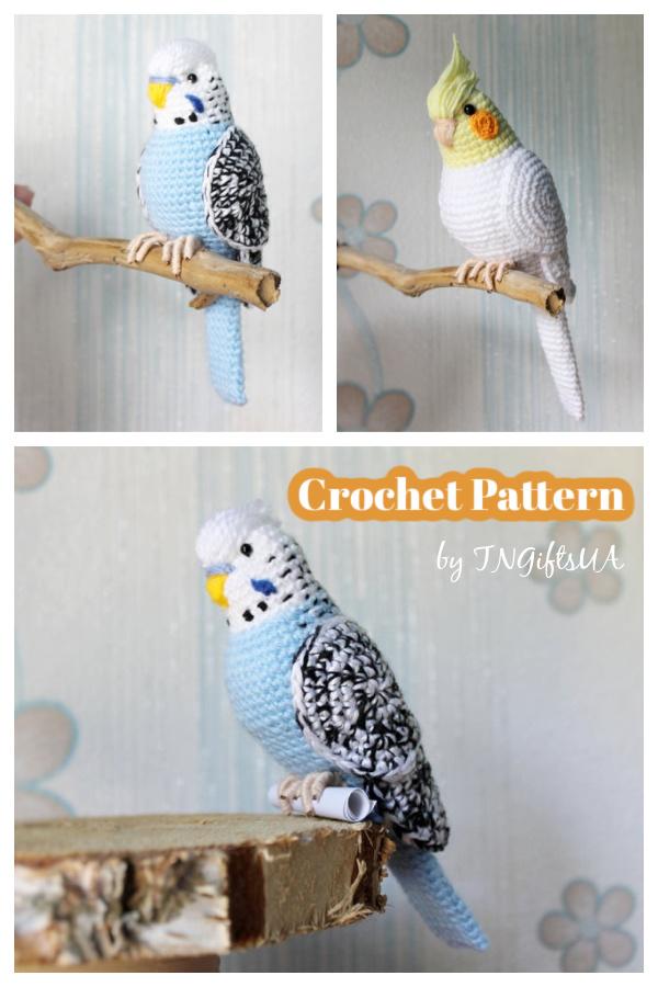 Adorable Parrot Amigurumi Crochet Pattern