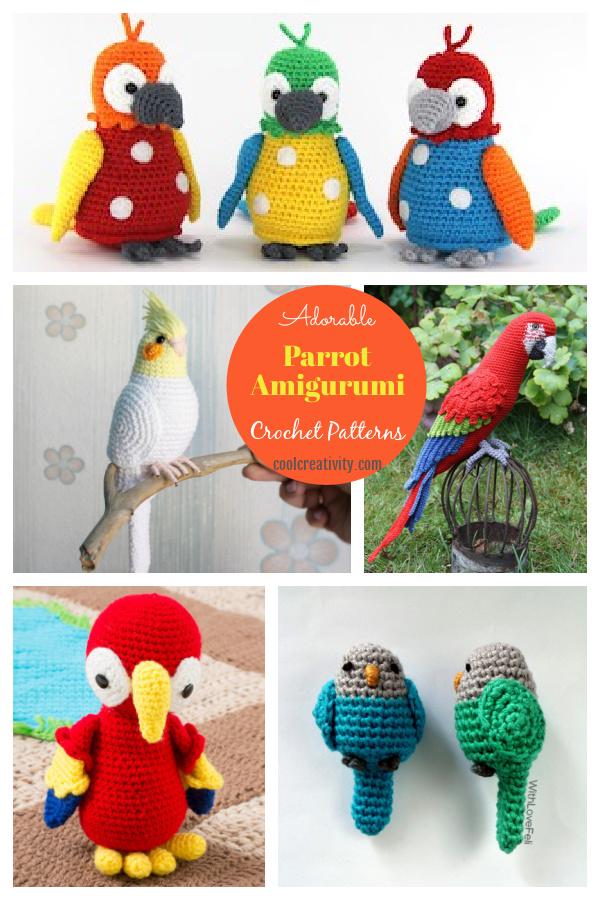 Adorable Parrot Amigurumi Crochet Patterns
