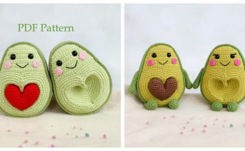 Amigurumi Avocado with Heart Seed Crochet Pattern