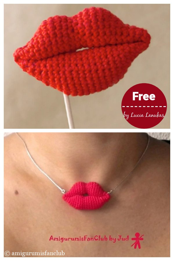 Amigurumi Lips Free Crochet Pattern