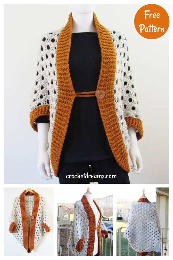 Beginner Cardigan Free Crochet Pattern