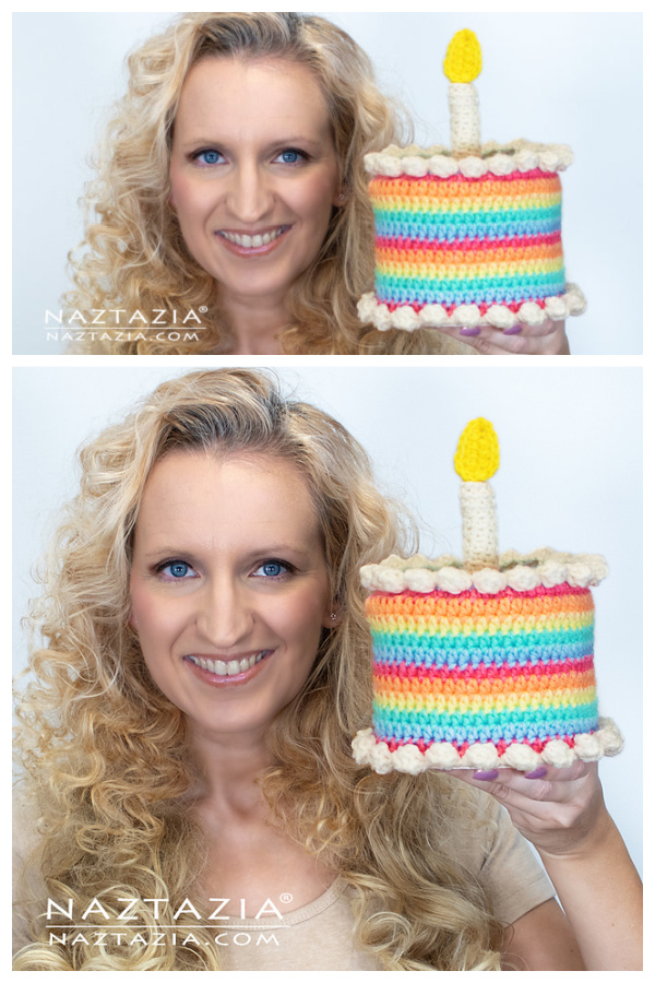 Birthday Cake Amigurumi Free Crochet Pattern and Video Tutorial