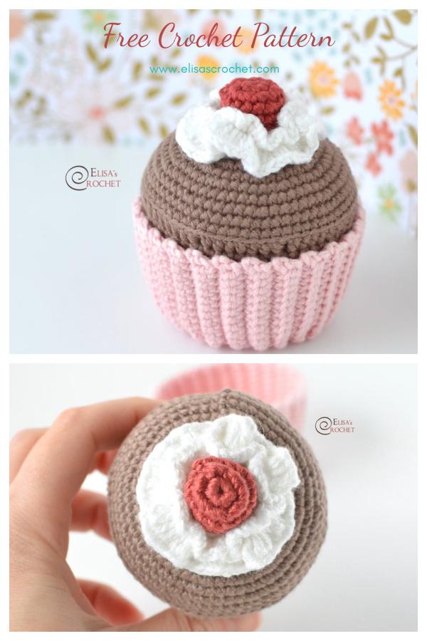 Birthday Cupcake Amigurumi Free Crochet Pattern