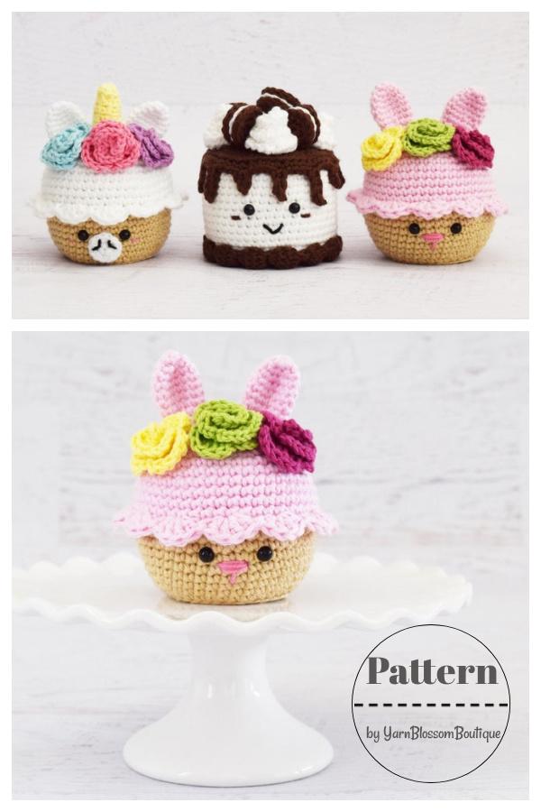 Bunny Cupcake Crochet Pattern