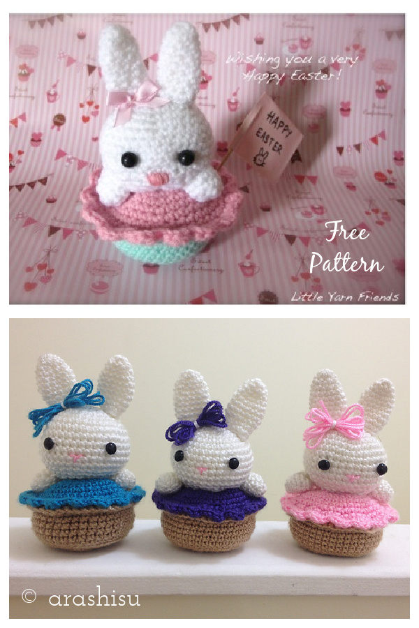 Bunny Cupcake Free Crochet Pattern