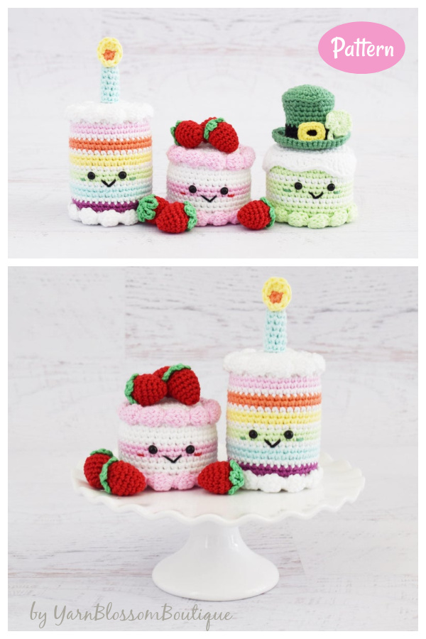 Cake Amigurumi Crochet Pattern