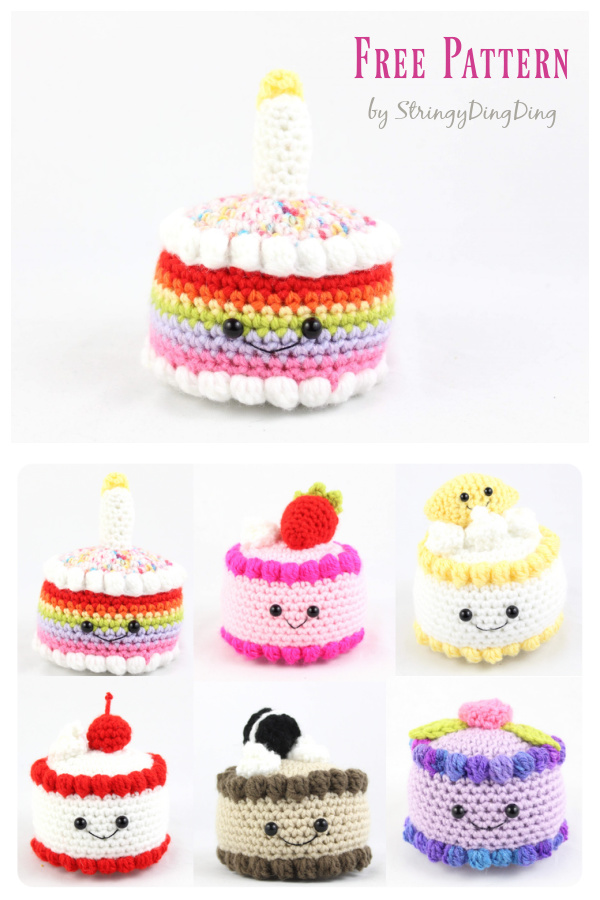Cake Amigurumi Free Crochet Pattern