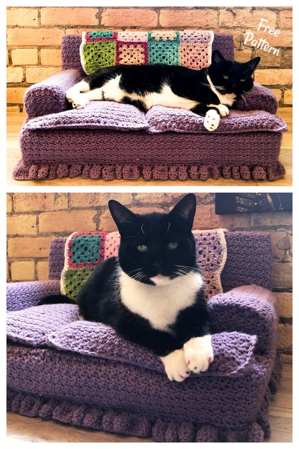 Kitty Cat Couch Free Crochet Pattern