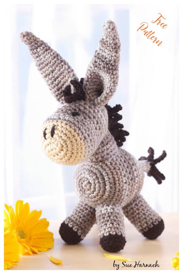 Dearest Donkey Amigurumi Free Crochet Pattern