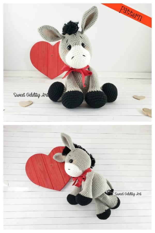 Donkey Amigurumi Crochet Pattern