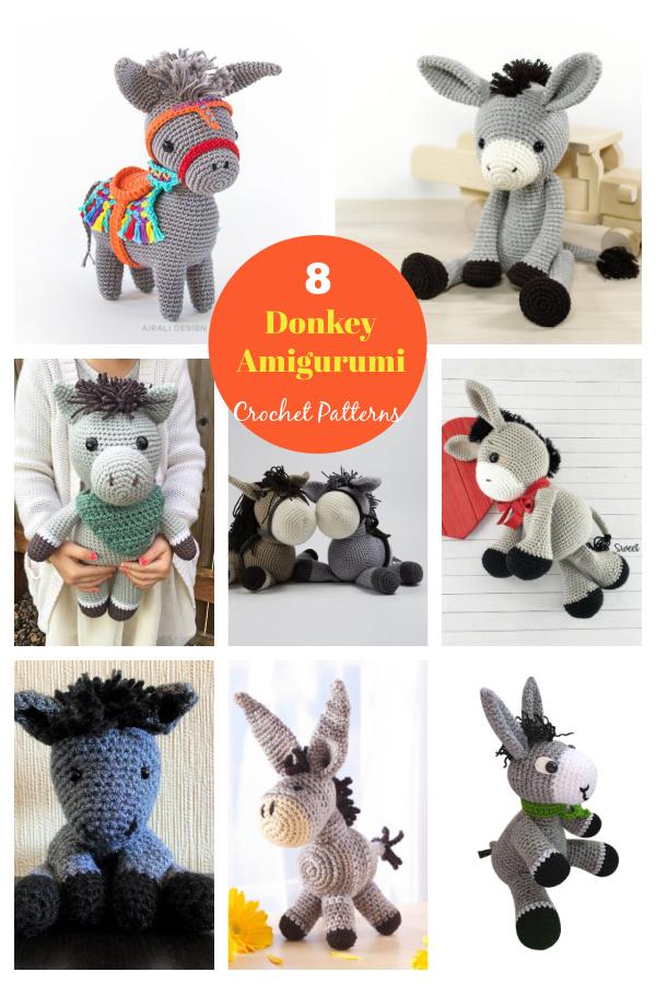 8 Donkey Amigurumi Crochet Patterns