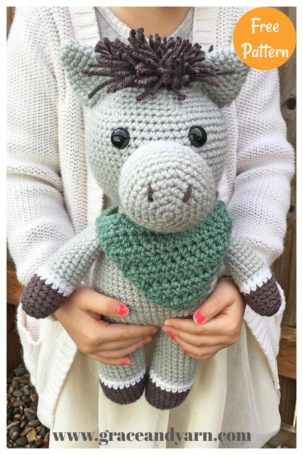 Donkey and Horse Amigurumi Free Crochet Pattern