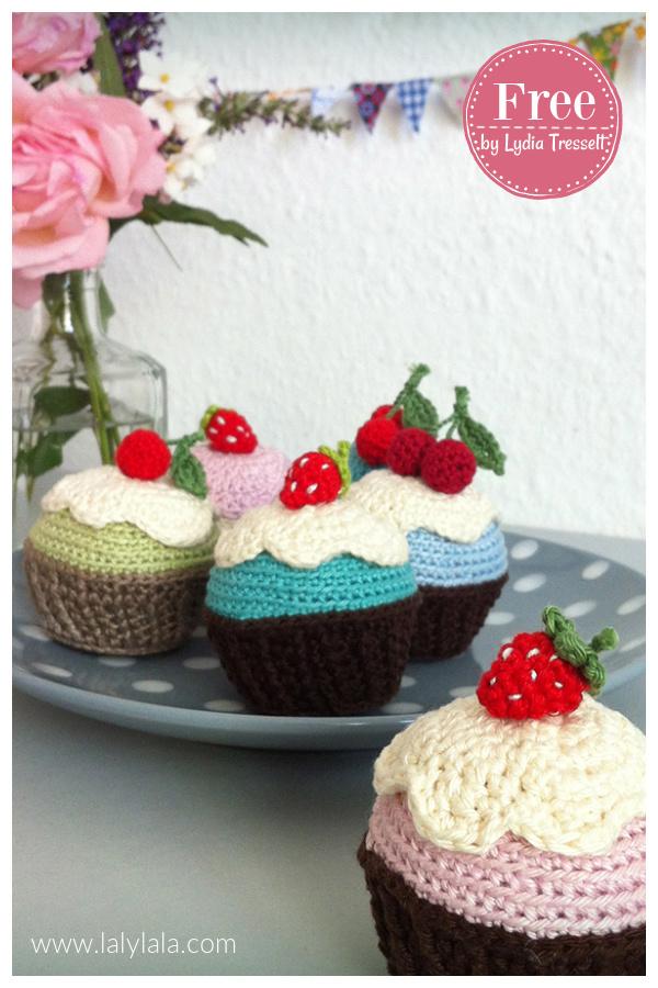 Happy Birthday Cupcakes Free Crochet Pattern