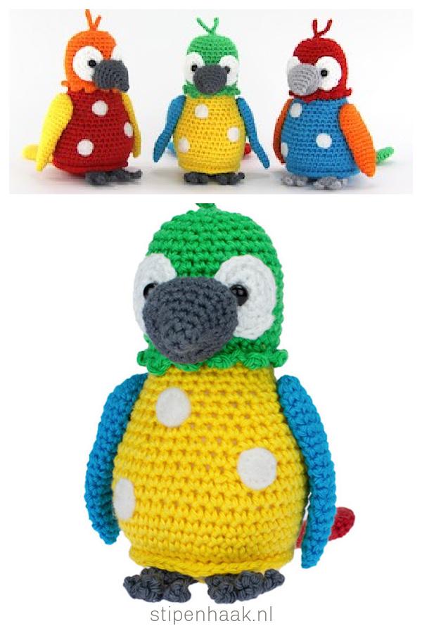 Parrot Pico Amigurumi Free Crochet Pattern