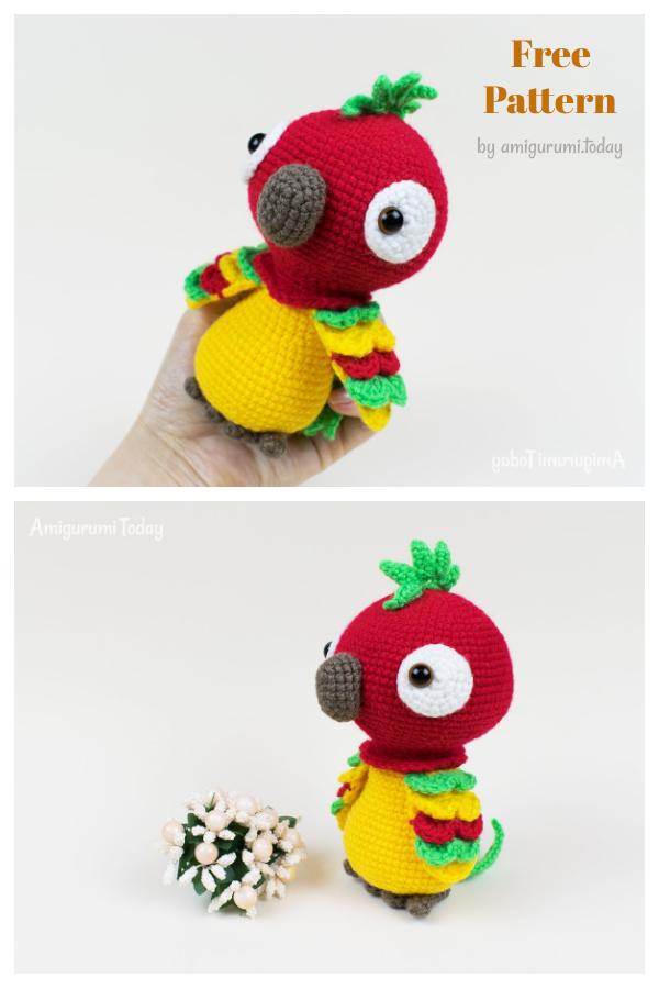 Pedro The Parrot Amigurumi Free Crochet Pattern