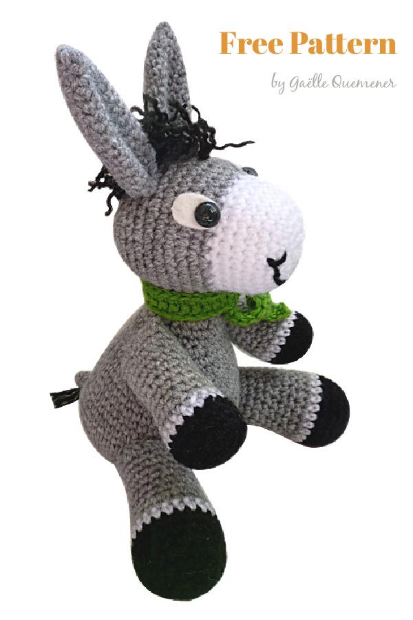 Perki The Donkey Amigurumi Free Crochet Pattern