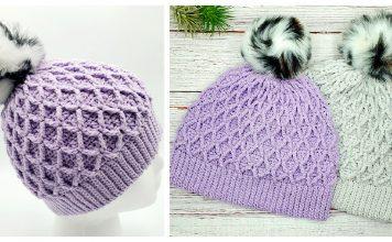 Snowbird Hat Free Crochet Pattern and Video Tutorial