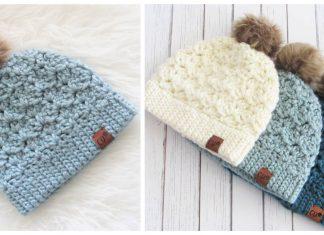 Stunningly Jenna Beanie Free Crochet Pattern for Beginner