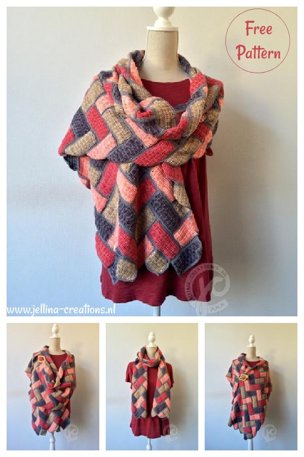 Sunkissed Fish Bone Wrap Free Crochet Pattern