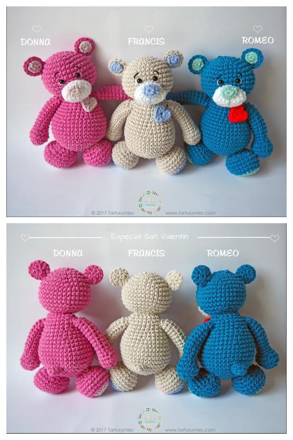 Sweet Heart Bears Free Crochet Pattern