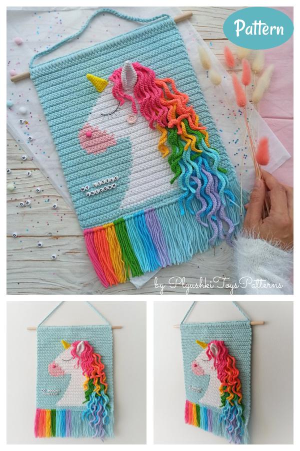 Unicorn Wall Hanging Crochet Pattern