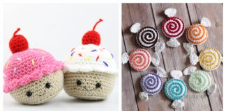 Valentine's Day Amigurumi Sweets Free Crochet Patterns