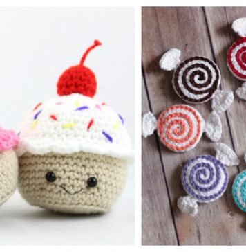 Valentine's Day Amigurumi Sweets Free Crochet Patterns