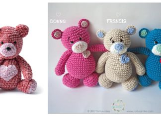 Valentine's Day Bear Free Crochet Patterns
