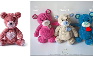 Valentine's Day Bear Free Crochet Patterns