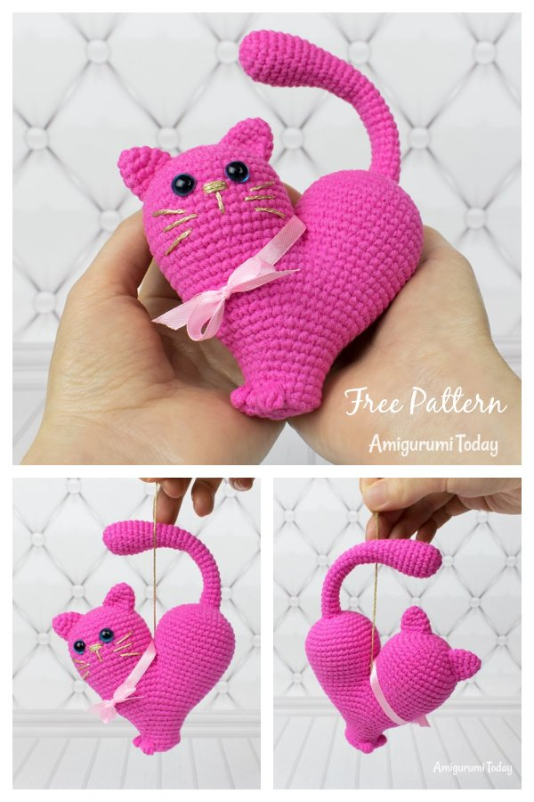 Valentine's Day Cat Free Crochet Pattern