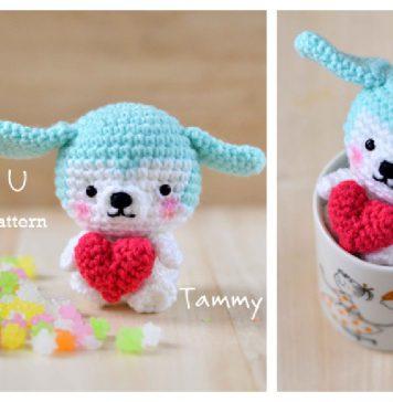 Valentine's Day Puppy Amigurumi Free Crochet Pattern