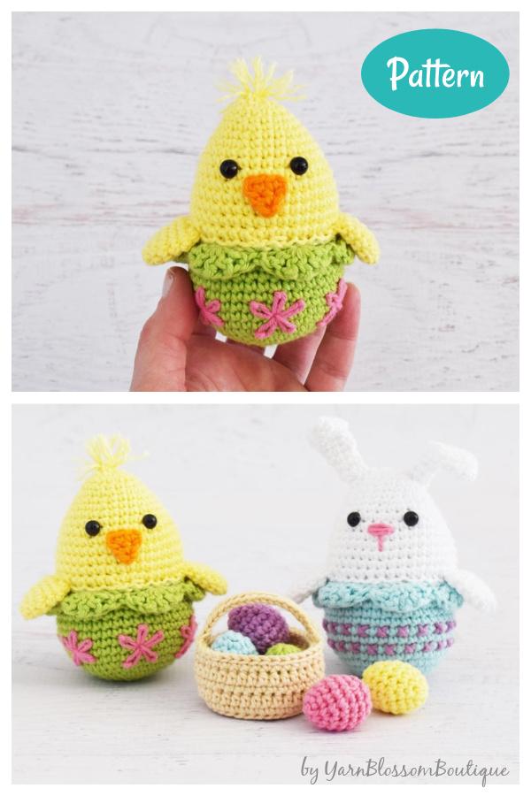 Amigurumi Easter Egg Bunny Chick Crochet Pattern