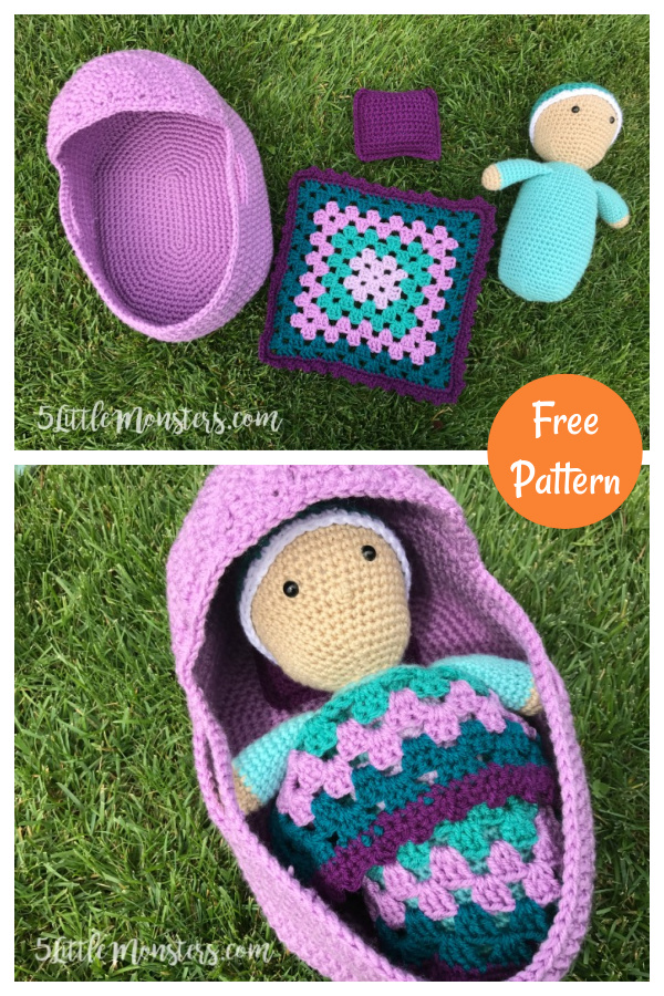 Baby Doll Play Set Free Crochet Pattern