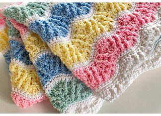 Butterfly Kisses Baby Blanket Free Crochet Pattern