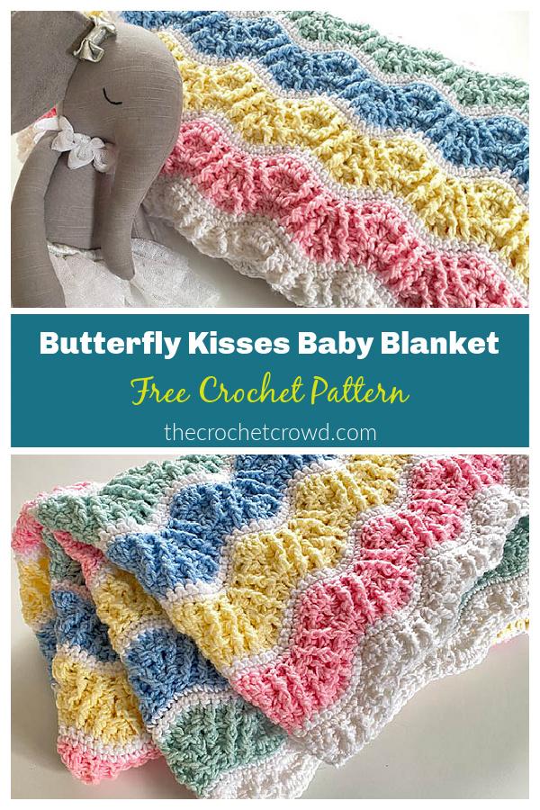 Butterfly Kisses Baby Blanket Free Crochet Pattern