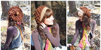 Crocodile Stitch Oak Sprite Hat Free Crochet Pattern