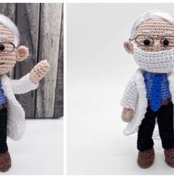 Dr. Fauci Amigurumi Doll Crochet Pattern