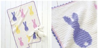Easter Bunny Baby Blanket Free Crochet Pattern