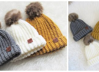 Easy Ribbed Beanie Hat Free Crochet Pattern and Video Tutorial