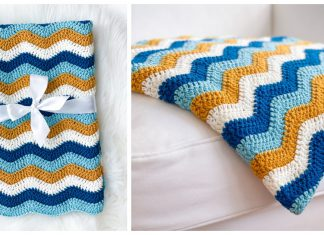 Easy Ripple Blanket Free Crochet Pattern