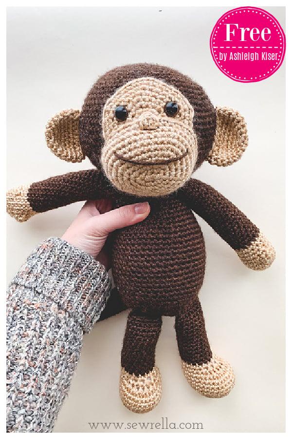Happy Monkey Amigurumi Free Crochet Pattern