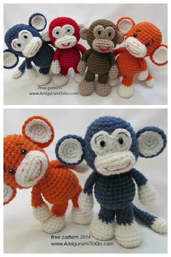 Little Bigfoot Monkey Free Crochet Pattern