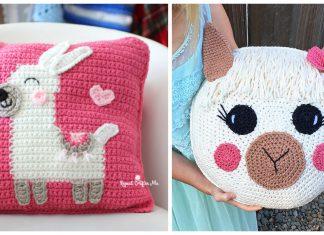Llama Pillow Free Crochet Patterns